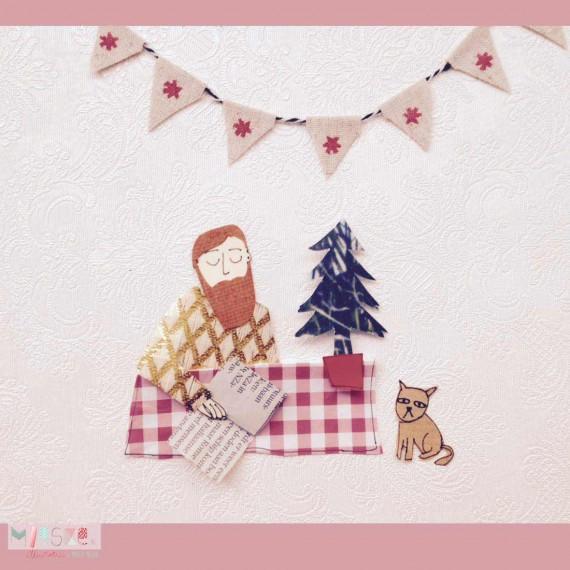 Mieske-Illustraties-animatie-kerstbaard